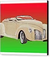 1939 Lincoln Zephyr Speedster Canvas Print by Jack Pumphrey