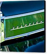 1941 Sudebaker Champion Coupe Emblem Canvas Print by Jill Reger