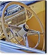 1947 Cadillac 62 Steering Wheel Canvas Print
