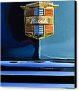 1947 Nash Surburban Hood Ornament Canvas Print by Jill Reger
