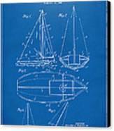 1948 Sailboat Patent Artwork - Blueprint Canvas Print