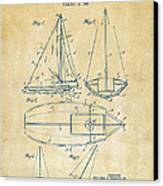 1948 Sailboat Patent Artwork - Vintage Canvas Print by Nikki Marie Smith