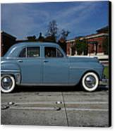 1949 Plymouth Canvas Print by Shukis Lockwood