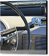 1950 Oldsmobile Rocket 88 Steering Wheel 3 Canvas Print by Jill Reger