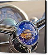 1950 Oldsmobile Rocket 88 Steering Wheel Canvas Print by Jill Reger