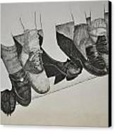 1950 Shoe Fad Canvas Print by Glenn Calloway