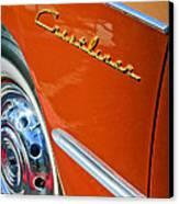 1951 Ford Crestliner Emblem - Wheel Canvas Print by Jill Reger