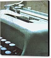1952 Olivetti Typewriter Canvas Print by Georgia Fowler