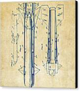 1953 Aerial Missile Patent Vintage Canvas Print