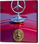 1953 Mercedes Benz Hood Ornament Canvas Print by Jill Reger