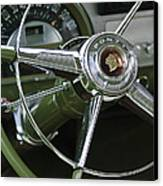 1953 Pontiac Steering Wheel Canvas Print by Jill Reger