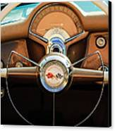 1954 Chevrolet Corvette Convertible  Steering Wheel Canvas Print by Jill Reger