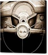 1954 Chevrolet Corvette Steering Wheel Emblem Canvas Print