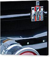 1954 International Harvester R140 Woody Grille Emblem Canvas Print by Jill Reger