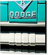 1955 Dodge C-3-b8 Pickup Truck Grille Emblem Canvas Print by Jill Reger