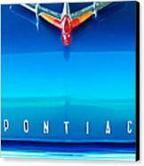 1955 Pontiac Safari Hood Ornament 4 Canvas Print