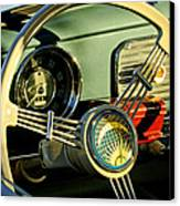 1956 Volkswagen Vw Bug Steering Wheel 2 Canvas Print by Jill Reger