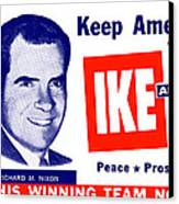1956 Vote Ike And Dick Canvas Print by Historic Image