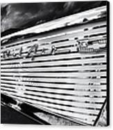 1957 Chevrolet Bel Air Monochrome Canvas Print