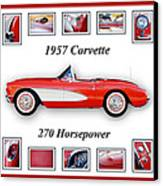 1957 Chevrolet Corvette Art Canvas Print