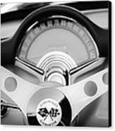 1957 Chevrolet Corvette Convertible Steering Wheel 2 Canvas Print by Jill Reger