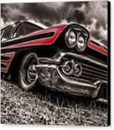 1958 Chev Biscayne Canvas Print by motography aka Phil Clark