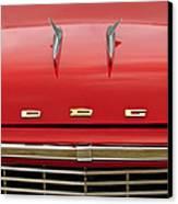 1958 Dodge Coronet Super D-500 Convertible Hood Ornament Canvas Print by Jill Reger