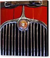 1958 Jaguar Xk150 Roadster Grille Emblem Canvas Print by Jill Reger
