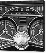 1959 Buick Lasabre Steering Wheel Canvas Print by Jill Reger