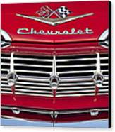 1959 Chevrolet Grille Ornament Canvas Print by Jill Reger