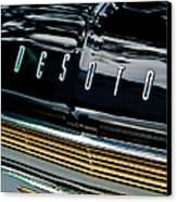 1959 Desoto Adventurer Hood Emblem Canvas Print by Jill Reger