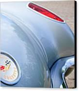 1960 Chevrolet Corvette Emblem - Taillight Canvas Print by Jill Reger