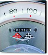 1960 Chevrolet Corvette Speedometer Canvas Print by Jill Reger