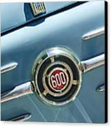 1960 Fiat 600 Jolly Emblem Canvas Print