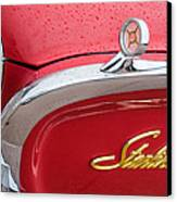 1960 Ford Galaxie Starliner Hood Ornament - Emblem Canvas Print