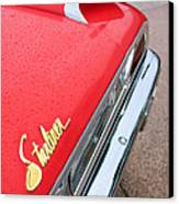 1960 Ford Galaxie Starliner Taillight Emblem Canvas Print