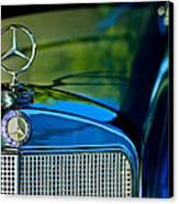 1960 Mercedes-benz 220 Se Convertible Hood Ornament Canvas Print