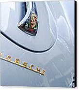1960 Porsche 356 B 1600 Super Roadster Hood Emblem Canvas Print