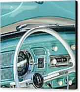 1962 Volkswagen Vw Beetle Cabriolet Steering Wheel Canvas Print