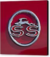 1963 Chevrolet Impala Ss Emblem Canvas Print by Jill Reger