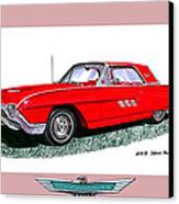 1963 Ford Thunderbird Canvas Print by Jack Pumphrey