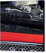 1967 Pontiac Gto Engine Emblem Canvas Print