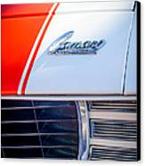 1969 Chevrolet Camaro Rs-ss Indy Pace Car Replica Hood Emblem Canvas Print
