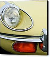 1970 Jaguar Xk Type-e Headlight Canvas Print by Jill Reger