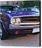 1971 Challenger Front And Side View Canvas Print