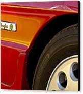 1988 Alfa Romeo Spider Quad Emblem Canvas Print by Jill Reger