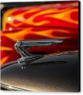 1939 Graham Coupe Hood Ornament Canvas Print by Ron Pate