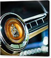 1949 Plymouth P-18 Special Deluxe Convertible Steering Wheel Emblem Canvas Print