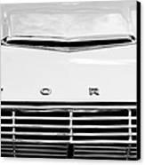 1963 Ford Falcon Futura Convertible  Hood Emblem Canvas Print by Jill Reger