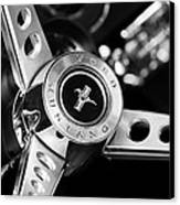 1969 Ford Mustang Mach 1 Steering Wheel Canvas Print by Jill Reger